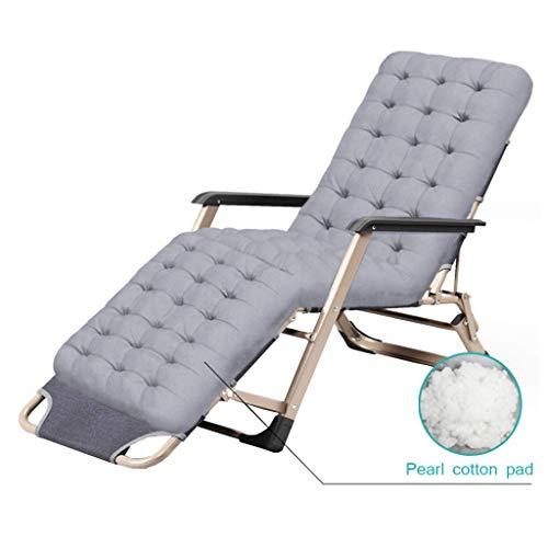 AYHa Tabouret de bar chaise de jardin inclinable pliante chaise de jardin inclinable zéro gravité avec coussin en coton antidérapant pour voyage/vacances/intérieur/extérieur (gris)