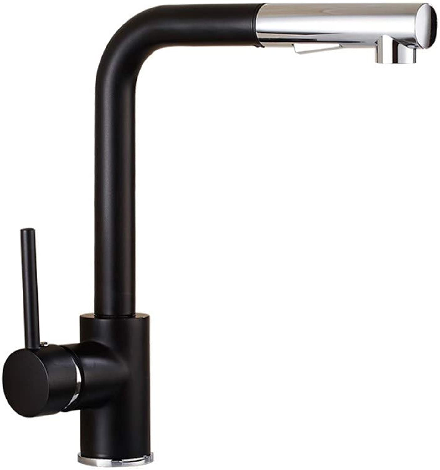 Kitchen Pull-Type Faucet Sink Sink Hot and Cold redating Black Faucet