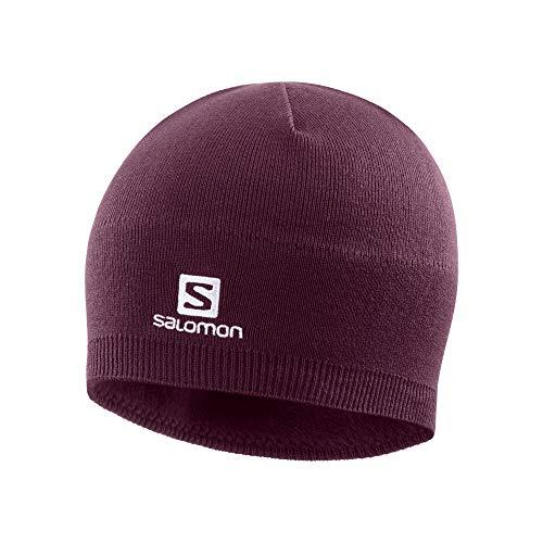 Salomon, Unisex-Wintermütze, SALOMON BEANIE, Bordeauxrot (Winetasting), Einheitsgröße, LC1424400