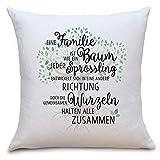 Federa morbida con scritta in lingua inglese 'Family', ideale come regalo per i vostri genitori per il compleanno di Natale