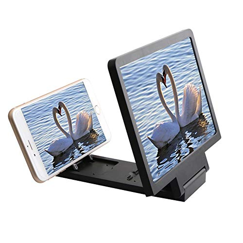 Magnifier Handy Bildschirm HD 8.2 Zoll Lupe Alle Handys Universal Strahlung Anti-Müdigkeit Augen Film Bildschirm Lupe (Farbe : SCHWARZ)