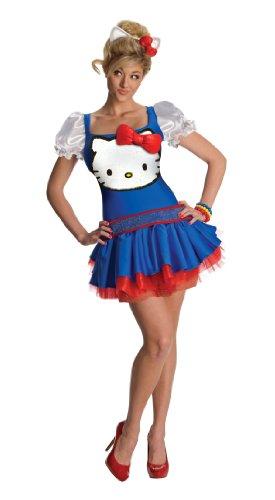 Hello Kitty Katzen Kostüm für Erwachsene - Größe SM