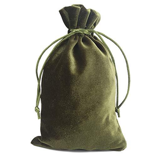 Okuyonic Bolsas de Almacenamiento de joyería Bolsa de Tarjeta de Tarot de Material Suave y Ligero para niños para Mujer(Moss Green)