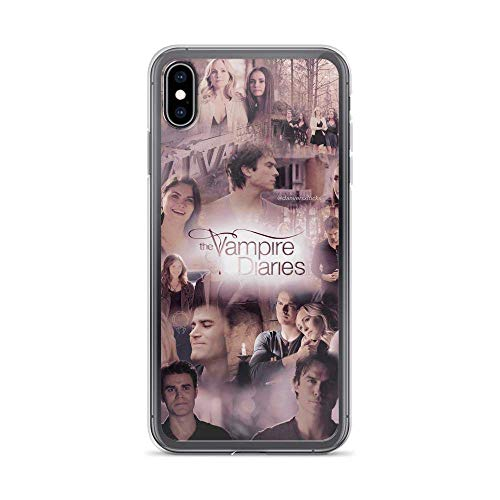 Yloves Pure Clear Phone Case Vampire Diaries Reunion Scenes Collage American Supernatural Teen Cover Compatible with iPhone 12 PRO Max 12 Mini 11 PRO Max X/XS Max XR SE 2020/8/7 6/6s Plus Case