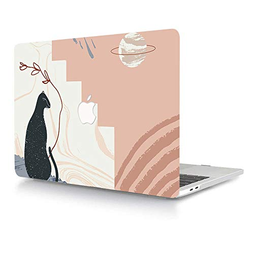 AJYX Older Version MacBook Pro 13.3 inch Case (Release 2015 2014 2013 2012) Plastic Rubberized Hard Shell Cover Only Compatible with Model A1502 A1425 with Retina Display, Animal Pattern
