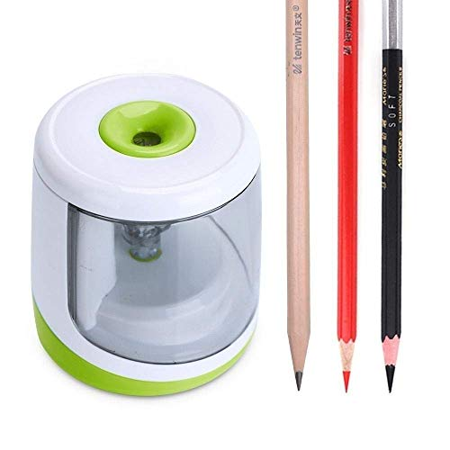 Electric Pencil Sharpener Heavy-Duty Blade Helical to Fast Sharpen and Auto Stop Pencil sharpner WUTONG
