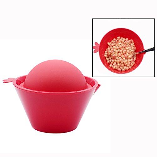 OFKPO Küche Werkzeuge Granatapfel Entkerner aus Silikon(Rot)