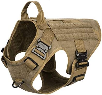 ICEFANG Tactical Dog Harness with 4X Metal Buckle Dog MOLLE Vest with Handle No Pulling Front product image