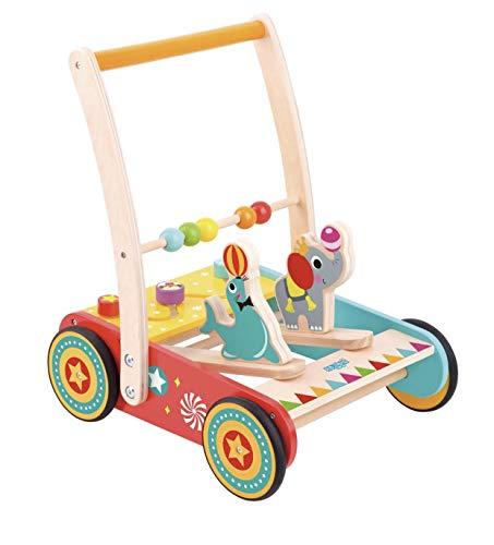 Laufwagen Zirkus aus Holz mit Gummibereifung/Spielspaß für Kinder