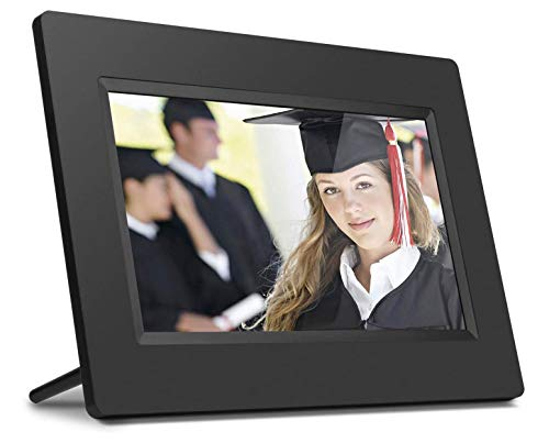 """Porta Retratos Digital Aluratek com LCD de 7"""", Entradas USB e Cartão SD - Preto"""