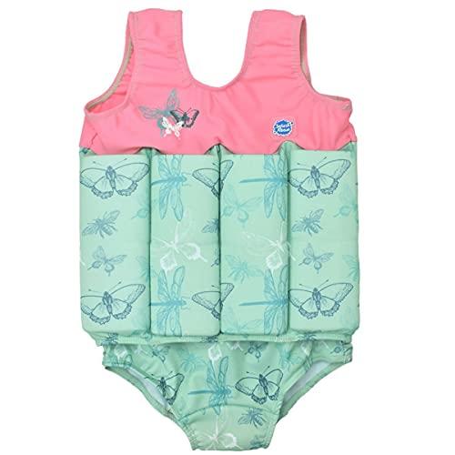 Splash About Mädchen Kinder-Schwimmanzug Mit Verstellbarem Auftrieb, Dragonfly, 4-6 Jahre