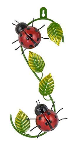 Fountasia Metal Wall Art Climbing Ladybird Garden Ornament