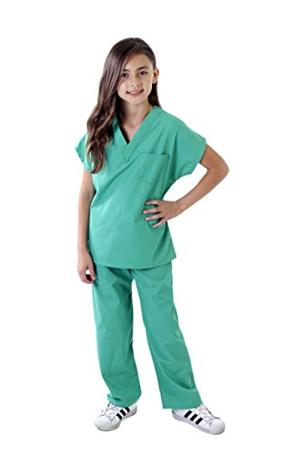 Natural Uniforms Childrens Scrub Set-Soft Touch (5/6, Surgical Green)