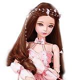 GODNECE BJD Doll 1/3, 23 articulaciones, vestido de princesa, juego de muñecas, figura de acción de juguete, muñeca articulada, juego de muñeca con bola, gato
