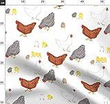 Hühner, Hennen, Ostern, Gelb, Vögel, Küche Stoffe -