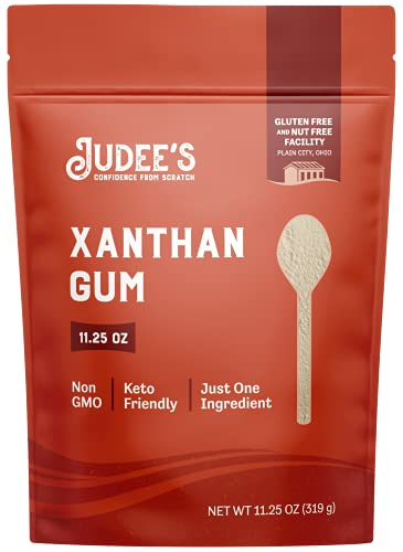 Judee's Xanthan Gum 11.25oz - 100% Non-GMO, Keto-Friendly - Gluten-Free & Nut-Free - Pure Food Grade - Gluten-Free Baking Essential - Great for Keto Syrups, Sauces, and Thickening
