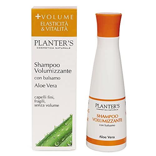 Planter s - Shampoo Volumizzante all Aloe Vera. Ideale per dare volume, elasticità e morbidezza a capelli sottili e fragili, anche grassi. 200 ml