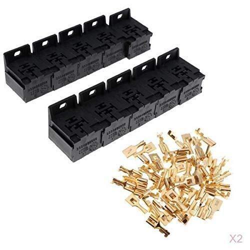 Yaseking 20pcs 5 Base de relé Pin Holder Kit - Terminales y soporte de montaje