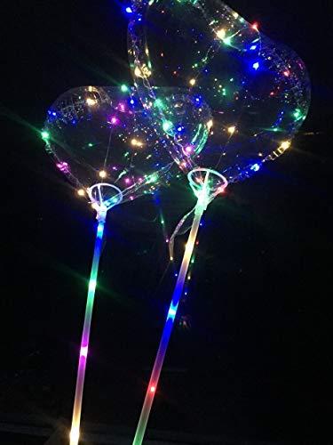 Globo de amor con luz LED transparente de 18 pulgadas