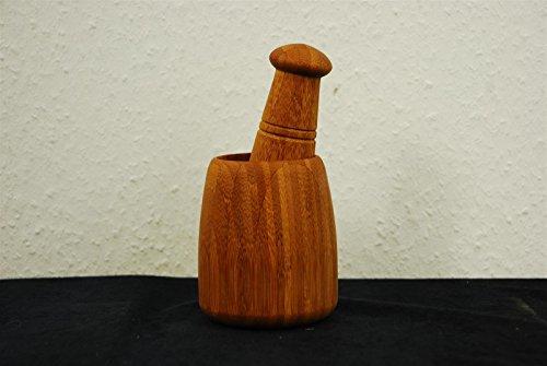 WIN Bambus Mörser Bambusmörser klein 9cm hoch 7cm Durchmesser Küchenhelfer TOP