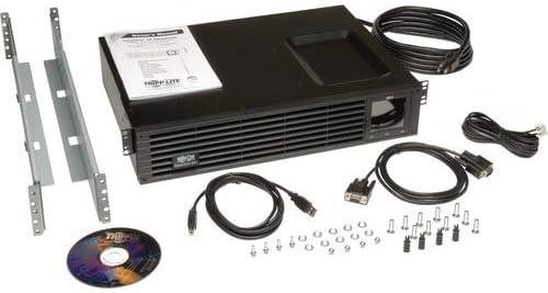 Tripp Lite UPS Smart 750VA 600W 120V LCD USB DB9 Ext Run WEBCARDLX 2URM (SMART750RMXL2UN)