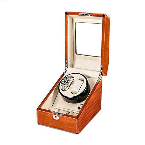 NuanXing Caja enrolladora de Reloj para Reloj automático 2 + 3, Caja de Almacenamiento de Relojes de Madera Maciza, Compatible con Motor silencioso de Carga USB para Hombres y Mujeres, Regalo