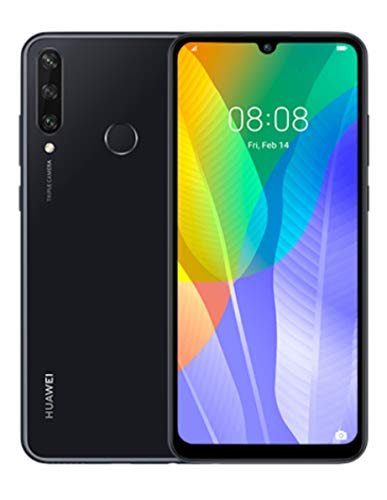 HUAWEI Y6P Dual SIM Smartphone (16 cm - 6.3 Zoll, 64 GB interner Speicher, 3 GB RAM, Android 10 AOSP ohne Google Play Store, EMUI 10.1.) Midnight Black