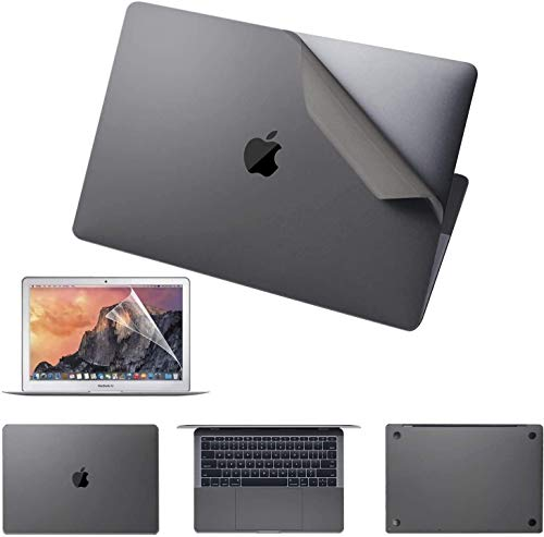 Premium 5-in-1 MacBook Full Body 3M Protective Skin Decals Stickers Compatible with MacBook Pro 13 inch with Apple M1 Chip (Model Number A2338, 2020 Late Released) - Space Gray