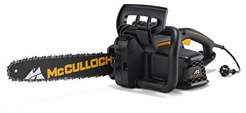 McCulloch 00096-71.479.01 CSE1835 Motosierra eléctrica con motor de 1800 W, longitud de espada de 35 cm, abrazadera de cable, engrasador de cadena
