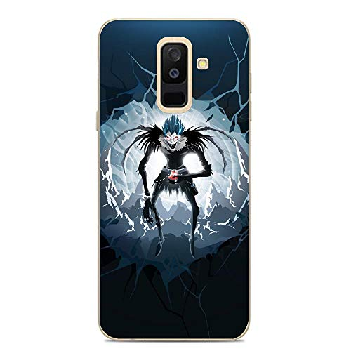 Ddftet Protect Clear Coque Soft TPU Wireless Charging Liquid Silicone Cover Case For Samsung Galaxy A6 Plus/J8 2018/A9 Star Lite-Death-Note Anime 1