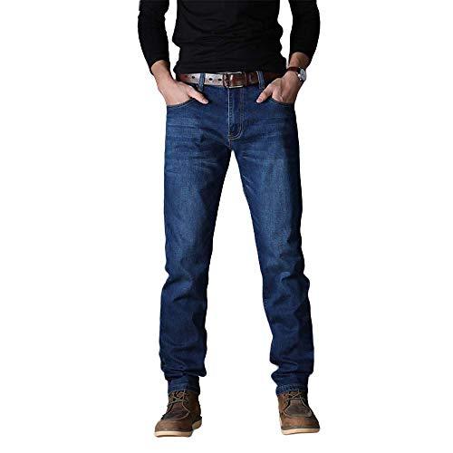 Pantalones Vaqueros clásicos de Ajuste Regular Authentics para Hombre, Todos los tamaños de Cintura, Pantalones elásticos Holgados de Verano, Talla Grande, Vaqueros Rectos y Delgados 46
