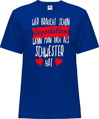 Kleckerliese Nicki T-shirt à manches courtes pour enfant Motif super-héros - Bleu - 0 ans