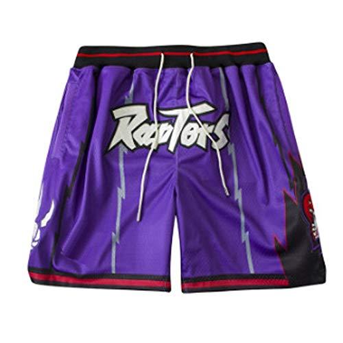 ZXZXING Herren Shorts Basketball Hose Toronto Raptors Boston Celtics Hose Mit Chip Bestickte Shorts Swingman Jersey Shorts