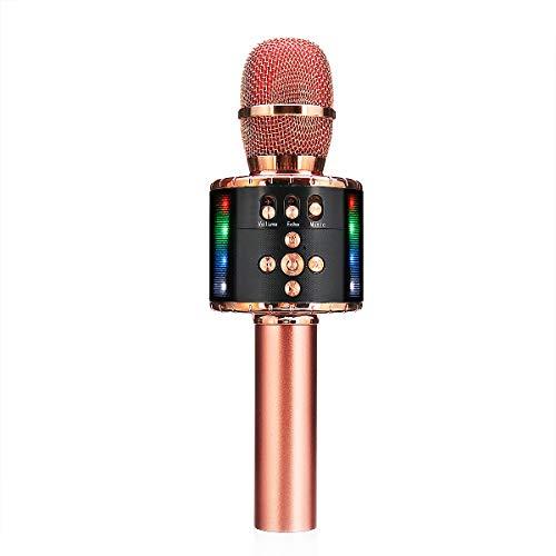 Micrófono inalámbrico profesional Bluetooth de mano altavoz KTV Karaoke Mic reproductor de...