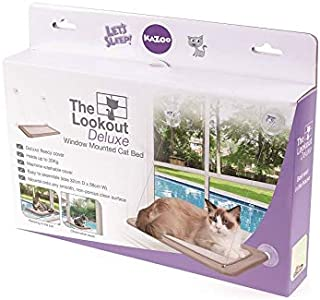 Kazoo The Lookout Deluxe Window Cat Bed, Desert Sand