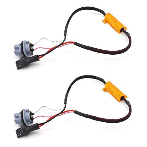 TUINCYN 2pcs 50W 8 ohm 3156 3156A 3456 Led Load Resistors - Fix Headlight LED Bulb Fog Lamp Fast Hyper Flash Turn Signal Blink Light Error Code Canbus Error Free Code Canbus Resistors Decoder