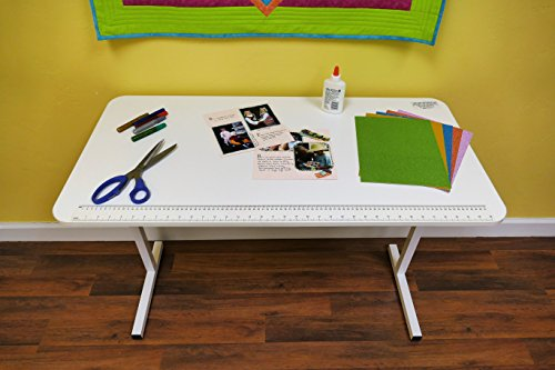 Arrow 601SP Gidget Solid Top Sewing and Craft Table, Clean White Finish