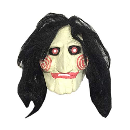 Máscara de Diablo de Motosierra de Terror, máscara de Horror de Fiesta navideña, Disfraz Divertido