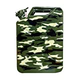 AXL's certified Fuel Steel Jerry Can for Petrol/diesel/kerosene Storage - Military Camouflage (20 Litres)