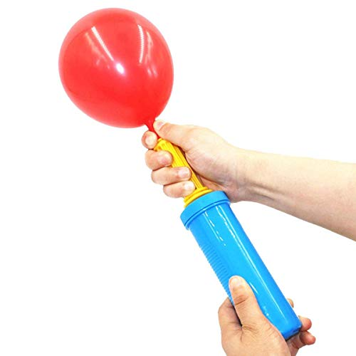 Portable Hand Held Round Nozzle Pump for Quickly Filling Inflatables, Balloons, Toys, Hand Pump - Double Action Air Pumps Balloons, Exercise Balls, Yoga Balls, Pool Floats