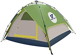 HENGTONG Camp Tent 3-4 Person Family Tent Waterproof Backpacking Canopy Tent Great for Hunting Outdoor Hiking Picnic