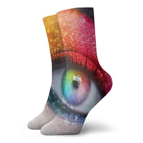 Calcetines para hombre y mujer Calcetines con arcoíris reales Calcetín atlético Diseñador Cojín anti olor Bota corta Media