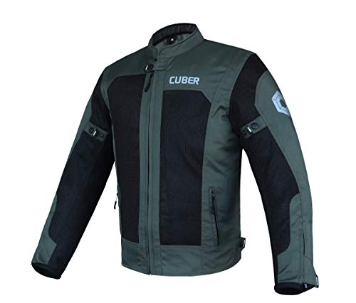 Cuber Mens Motorcycle Jacket With Armor Mesh Cordura 600D Adventure Motorcycle Jackets Mens Breathable Riding Jackets For Motorcycles Men Textile Reflective Protective Jacket For Men Motorbike Gear