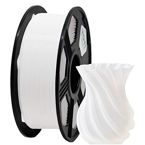 YOYI 3D Printer Filament, PLA PFilament 1.75mm 1KG (2.2 lbs) Spool, Dimensional Accuracy +/- 0.03 mm (White, PLA)