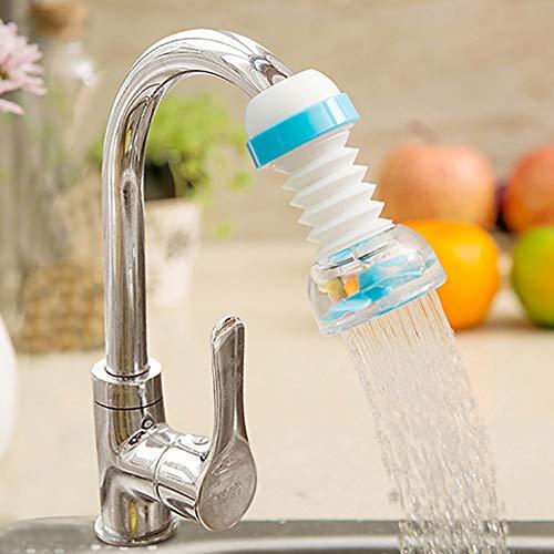 Kuizhiren1 Wasserhahn, drehbar, mit Sprühkopf, für die Küche, 360 Grad drehbar, wassersparend, Wasserhahnfilter, plastik, Blau