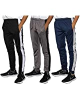 Real Essentials 3 Pack Boys Tricot Sweatpants Joggers Track Pants Athletic Workout Gym Apparel Training Fleece Tapered Slim Fit Tiro Soccer Casual,Set 6,S (8)