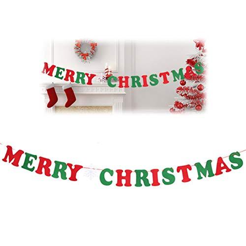 Heaviesk Weihnachtsbanner Requisiten Weihnachtsbehang Pull Flag Holiday Party Dekoration Ornamente Festivalzubehör