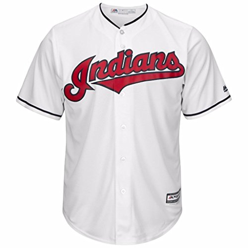 Cleveland Indians MLB Men's Big and Tall Cool Base Team Home Jersey White (4XT)