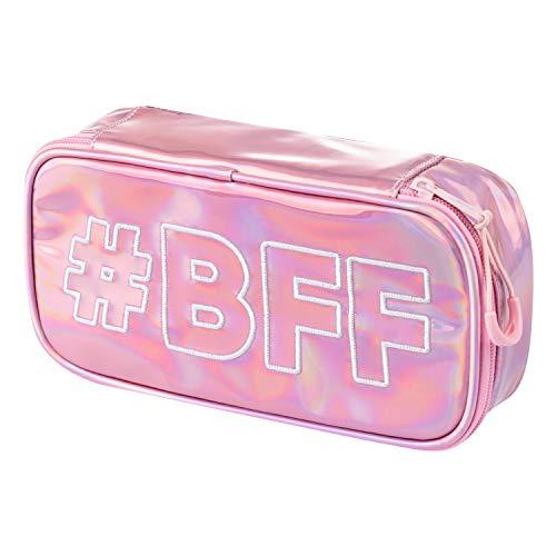 Baagl Federmäppchen für Mädchen - Schulmäppchen für Schreibwaren - Schulsachen Federtasche, Teenager Federmappe, Mäppchen für Schule (Fun #BFF)