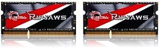 G.SKILL Ripjaws Series 16GB (2x8GB) 204-Pin DDR3 SO-DIMM DDR3L 1600 (PC3L 12800) طراز ذاكرة الكمبيوتر المحمول F3-1600C9D-1...